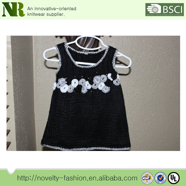 de723464cc07 Crochet Knitting Kids Dresses Hand Knitted Wool Sweaters Of Baby ...