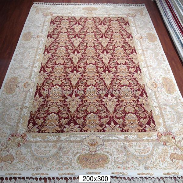 Traditional Kashmir Silk Handmade Hand Knotted Persian: Kashmir Wool Rugs