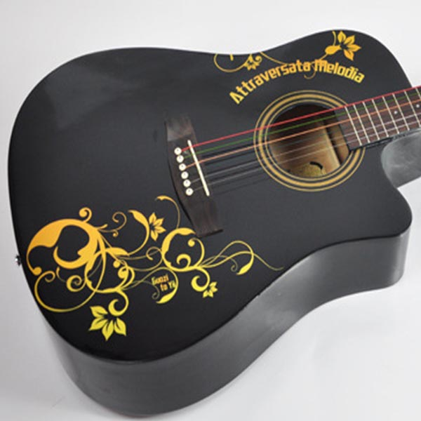Custom Printed Self Adhesive Die Cut Vinyl Stickers For Guitar - Guitar custom vinyl stickers