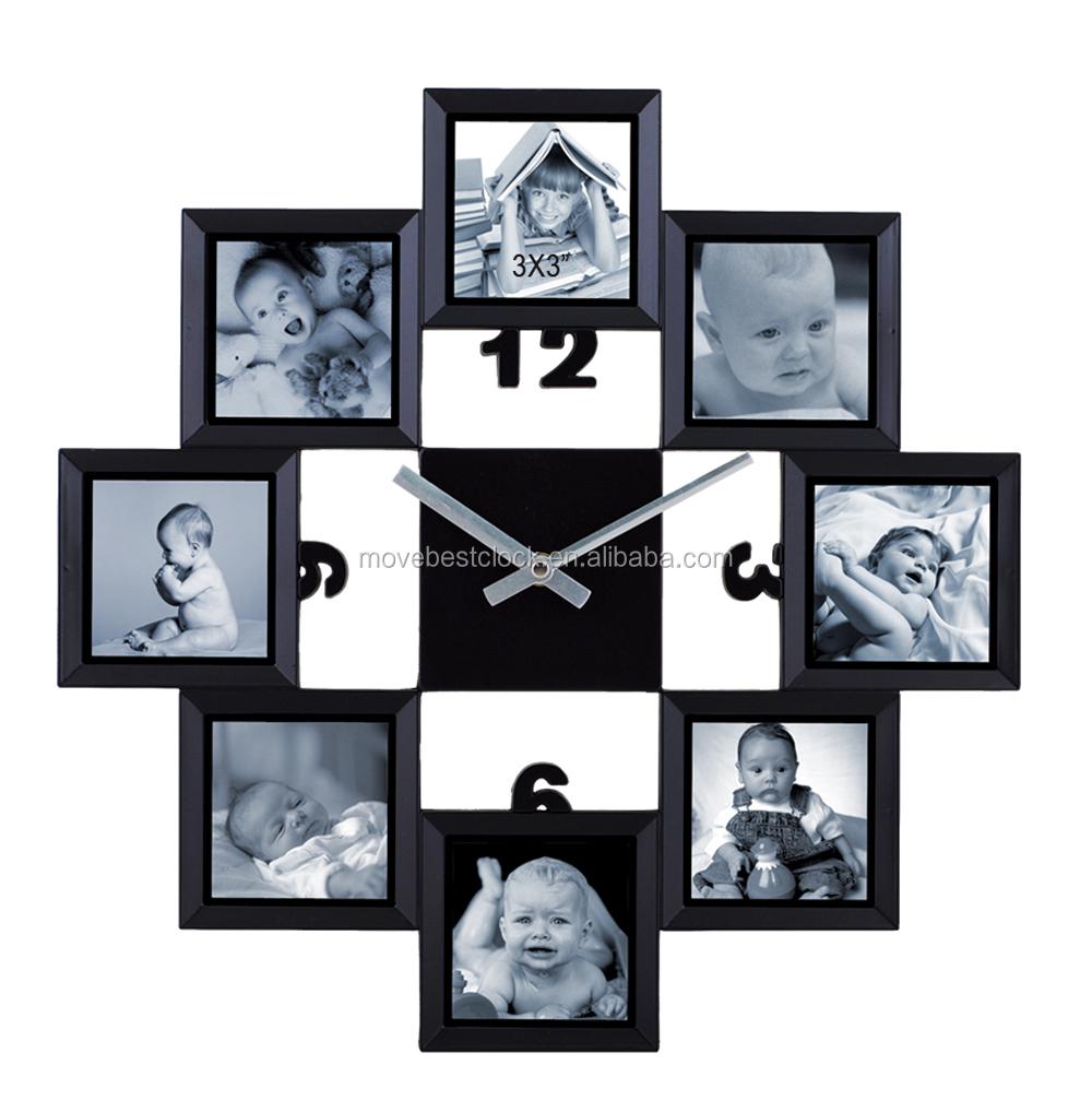 familieportret wandklok met multi fotolijst kader product id 60261929360. Black Bedroom Furniture Sets. Home Design Ideas