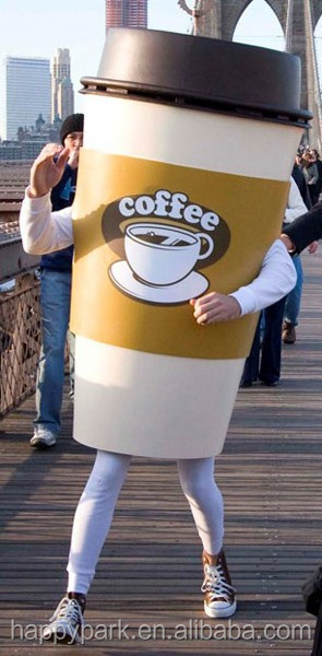 coffee cup mascot costumes