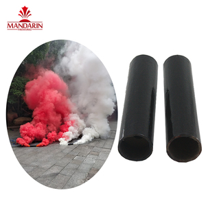 Day time smoke fireworks red colorful flare with 6 colors