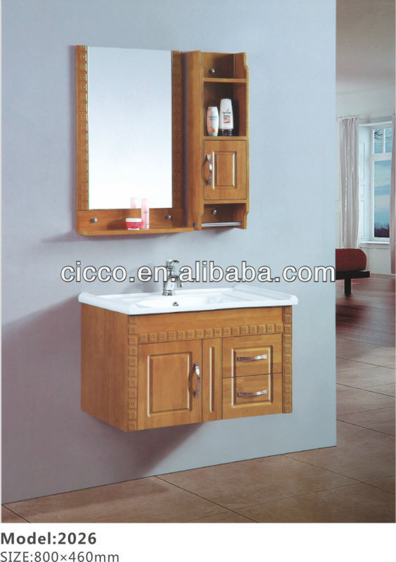 Classic oak bathroom storage cabinet C2026