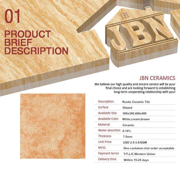 Qualified test report original 30x30cm ceramic floor tile for Floor description