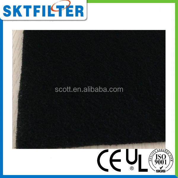 Activated carbon air filter media roll for water purifier
