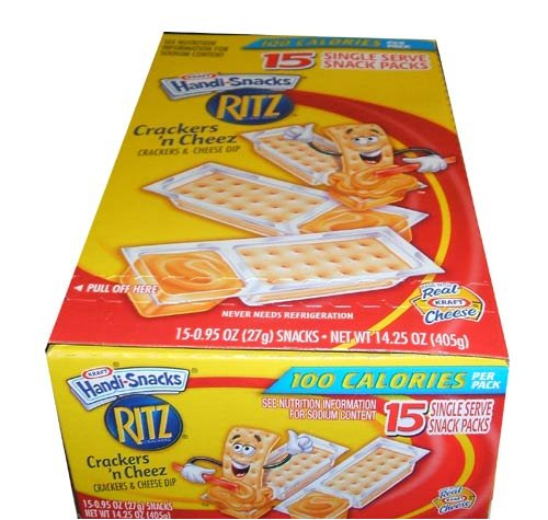 Kraft Handi-Snacks Ritz Crackers 'n Cheese Dip Snack Packs - 15 CT