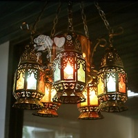 modern retro pendant light Classical indoor metal antique wrought iron vintage chandelier