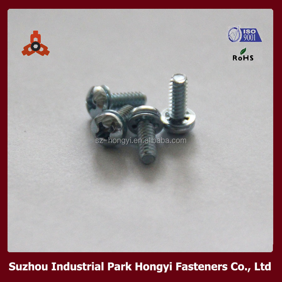 Tamperproof Screws Type Of Philips Cross Pan Head With Internally Toothed Washer Assemblies