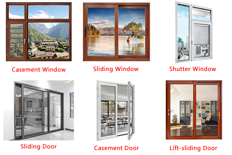 Aluminum Frame Inward Opening Glass Swing Aluminium Casement Window Drawing