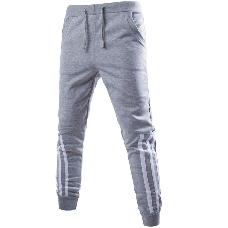 73a104ae0f5482 Get Quotations · Jongood Trendy Men Jogger Pants Sweatpants Youthful Trousers  Harem Pants Jogger Tracksuit Black Sweatpants