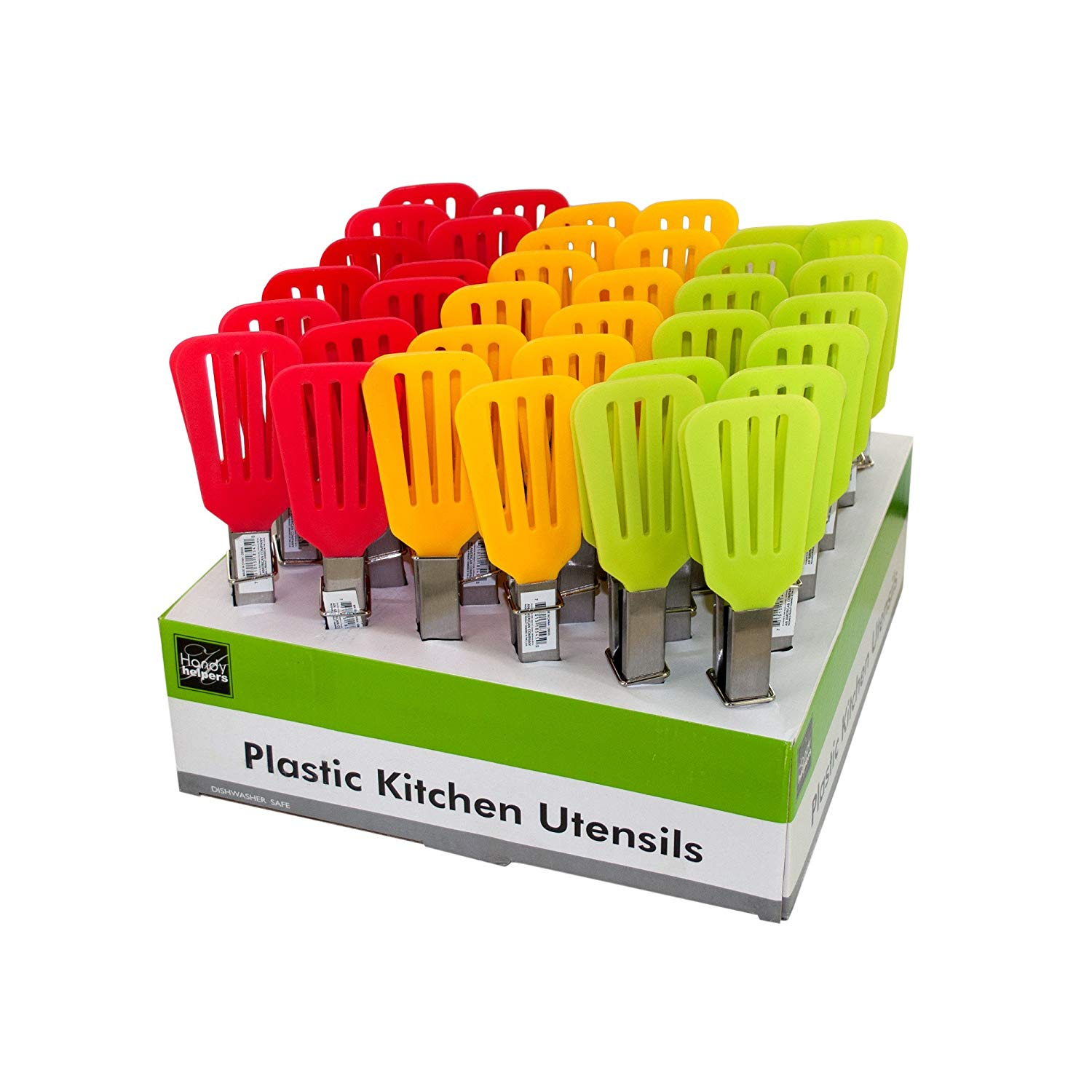 123-Wholesale - Set of 36 Plastic Kitchen Turner Tongs Counter Top Display - Kitchen & Dining Kitchen Tools & Utensils