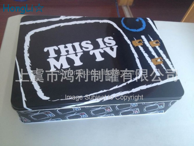 Free Sample CD Storage Case Videos Packing Metal Tin Box