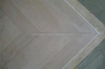 Unfinished Chervon Cherry Wood Parquet Flooring Buy Wood Parquet