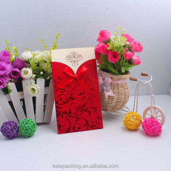 Chinese Style Royal Wedding Invitation Card Laser Cut Wedding
