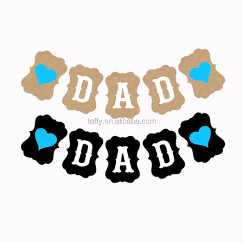 Love DAD Birthday Party Supplies Father S Day Banner Decorations