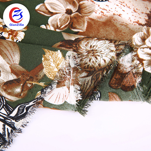 100% polyester 4 way stretch fdy custom printed fabric design