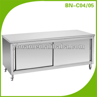 Working Table/Stainless Steel Examination Table/Stainless Steel Kitchen Table Top With Storage Cabinet