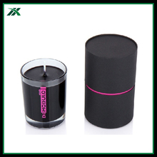 recycled material cylinder shape candle packaging tube box