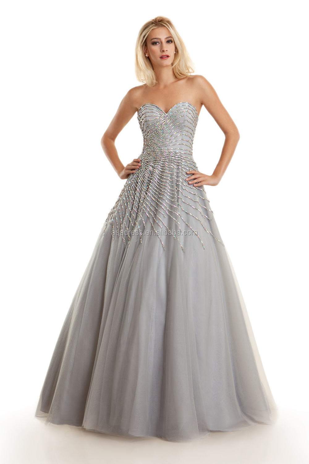 Xpd13 Latest Design Gray Off Shoulder Evening Formal Gown With Color ...