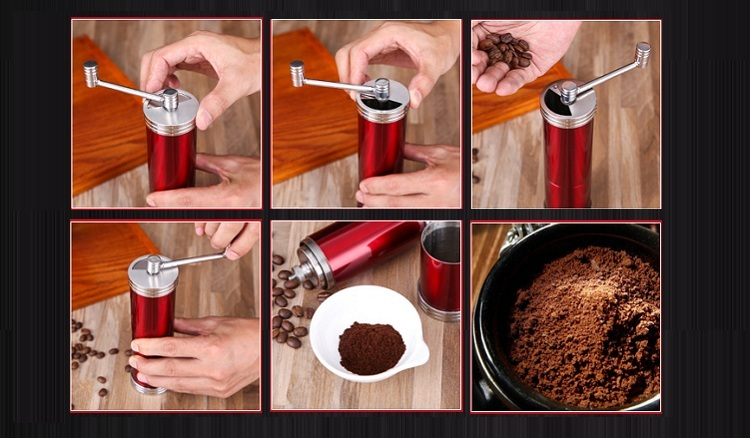New Design Portable Stainless Steel Burr Coffee Bean Mill
