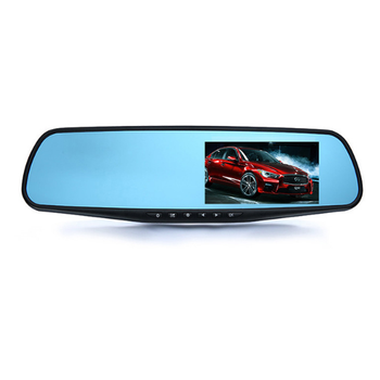 Universal car DVR dash cam 1080p car rearview mirror monitor with USB/SD input