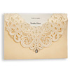 Wishmade Factory Rhinestone Embellished Invitations Quinceanera Invitation Chinese Wedding Invitation Card