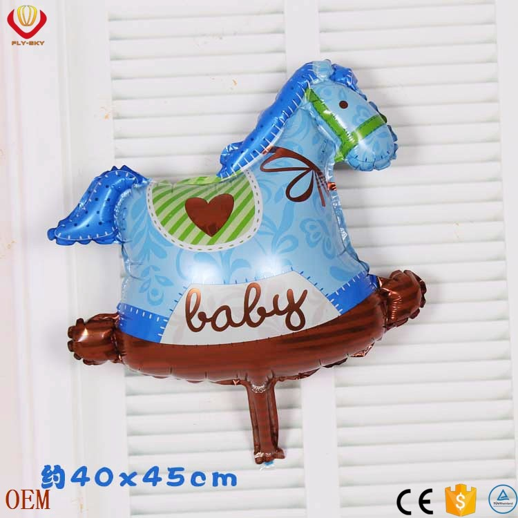 birthday party toy horse custom shaped foil helium balloon