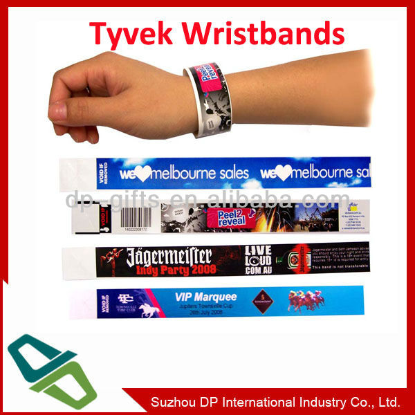 promotional items hospital make tyvek wristbands