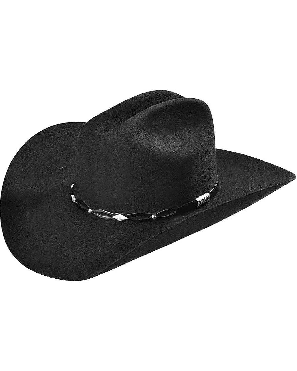 7364ae9f8be Get Quotations · Stetson Men s 6X Fur Felt Brimstone Cowboy Hat -  Sfbstn-7242 Blk