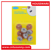 china wholesale plastic furniture protection pad chair glides nail