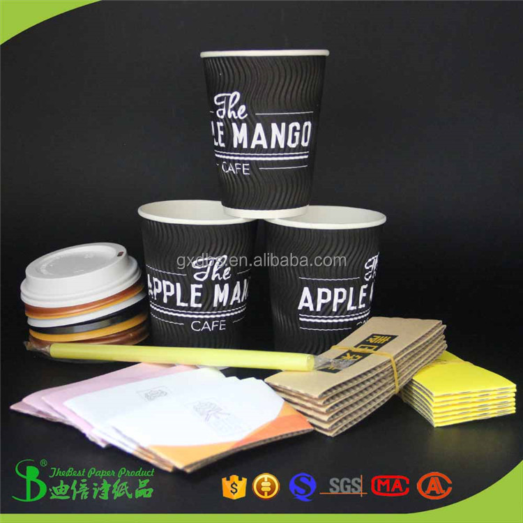 New products eco friendly disposable cold drink sleeve for 9/12/14/16/18oz cup