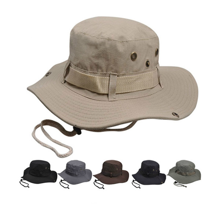 New Summer Custom Funky Safari Fishing Hiking Unisex Bucket Hats