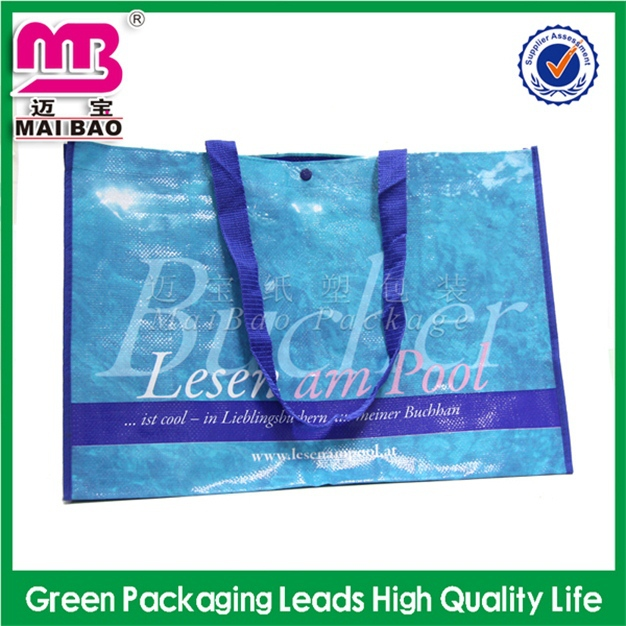 high quality reinforced plastic package pp woven shopping bag