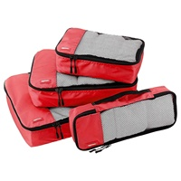 Nylon travel clothes storage bag set packing cubes luggage organizer bags