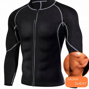 Men Long Sleeve Sweat Neoprene Sauna Suit Workout Shirt Body Shaper Fitness Jacket Gym Top Clothes Shapewear