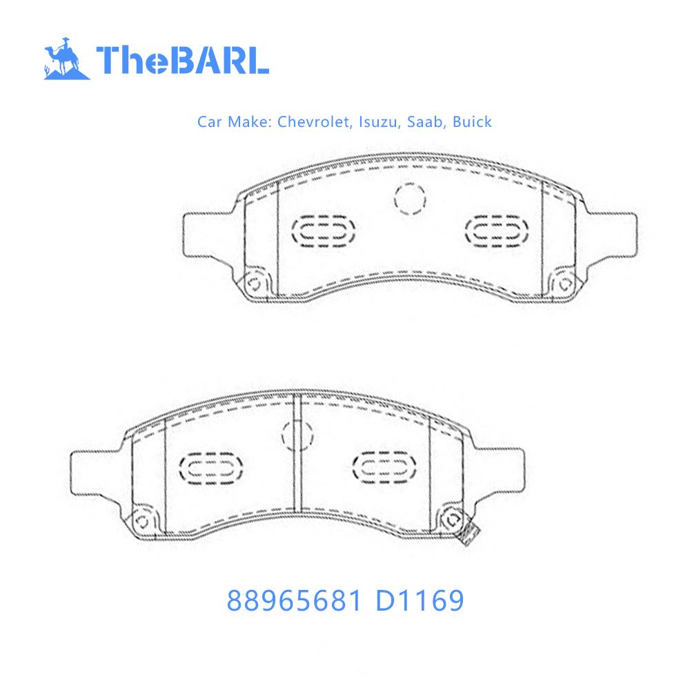 D1169 88965681 Auto Brake Pad For Saab 9-7x Chevrolet Colorado Trailblazer  Truck Buick Enclave Rainier Isuzus Ascende - Buy D1169 88965681,Auto Brake  Pad ...