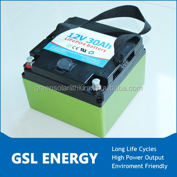 rechargeable deep cycle lifepo4 12v 30ah battery