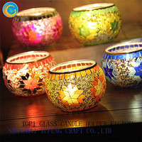 mosaic glass candle holders for sale