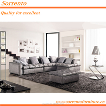 soft feeling comfortable seating design furniture l shaped sofa SORRENTO532A#