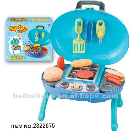 Cuisine jouets bleu barbecue set de jouets pour les for Set cuisine enfant
