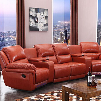 Italy Genuine Leather Recline Vip Home Cinema Sofa Theater Sofa
