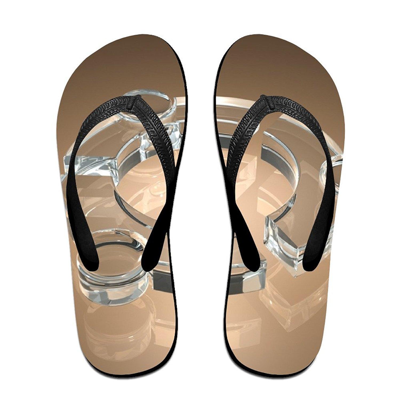Jinqiaoguoji Custom Summer Shape Glass Brown Design Womens Sandals Beach Sandals Pool Party Slippers Flip Flops