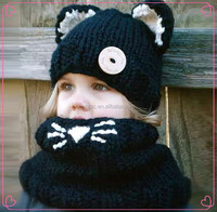 crochet free knitting pattern luxury hat and scarf baby sets