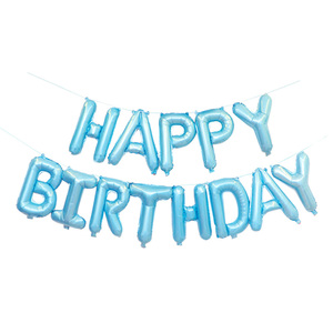 BLM Aluminum Foil Balloons Happy Birthday Balloon Set Hang In The Air In The House For Birthday Party