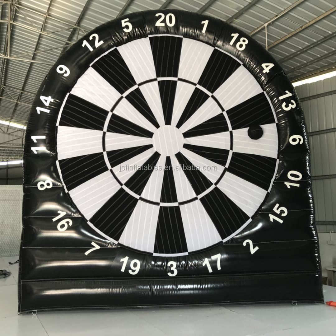 2019 new arrival inflatable soccer dart board game with 6 balls for sale