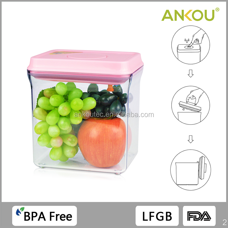 FDA LFGB Approved 1700ML Food Grade BPA Free Rectangle Plastic Containers/ Outdoor Reusable Plastic Storage Container