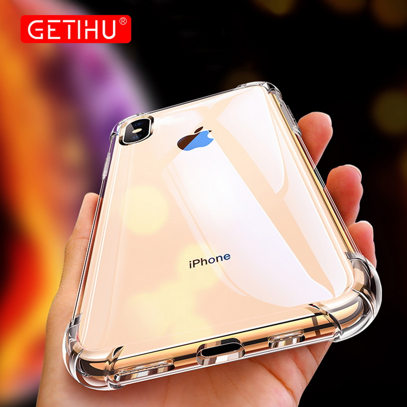 <strong>Case</strong> For iPhone XS Max XR X 360 Shockproof Transparent Cover Coque <strong>Case</strong> For iPhone 8 7 6 S 6S Plus XS Silicone <strong>Cases</strong> Protection