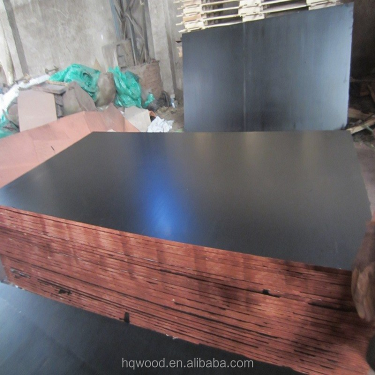 film faced shuttering plywood / 18mm black film faced plywood with WBP & Melamine glue