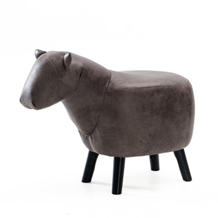 Online Shopping Cute Low Stool Footrest Stool Wood Leg Horse Ottoman