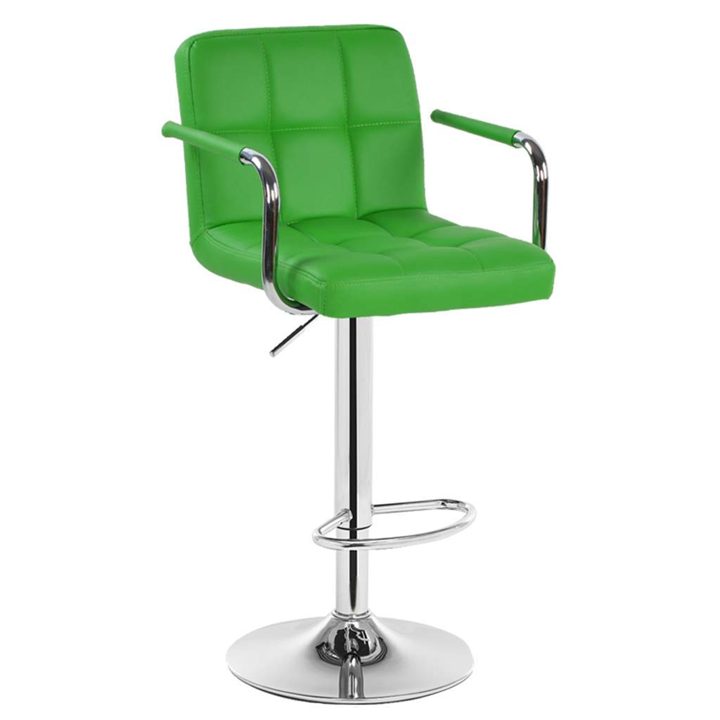 Li Wei Shop Bar Chair/bar Stool liftable and rotatable bar Chair Safe and Stable bar Stool for Home Comfortable and Soft Lounge Chair (Color : Green, Size : 4495cm)